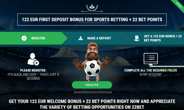 22bet betting promotions