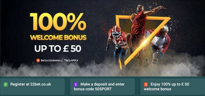 22bet welcome offer