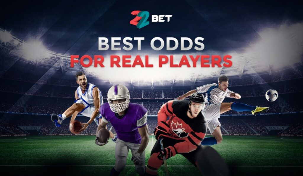 22bet banner odds and markets