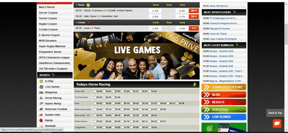 world sports betting betting options