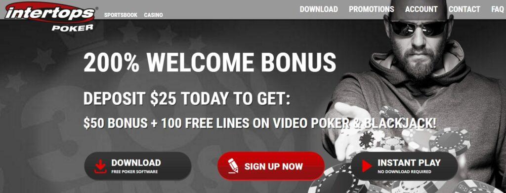 Intertops poker offer