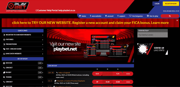 Playbet desk user interface