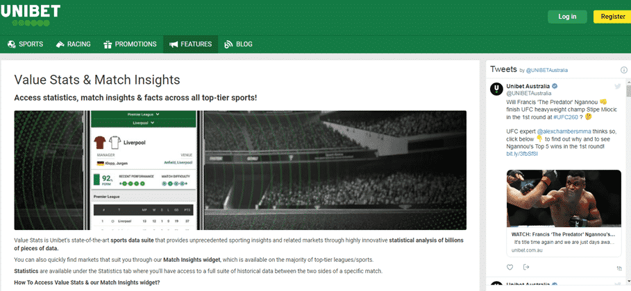 Unibet South Africa features