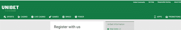 Unibet South Africa how to register