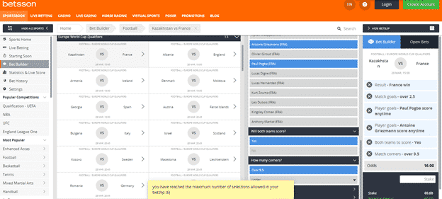 Betsson South Africa Sports betting experience