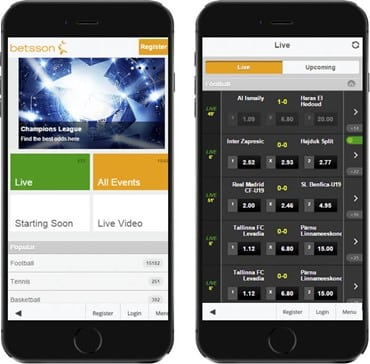 Betsson South Africa mobile
