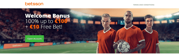 Betsson South Africa welcome offer
