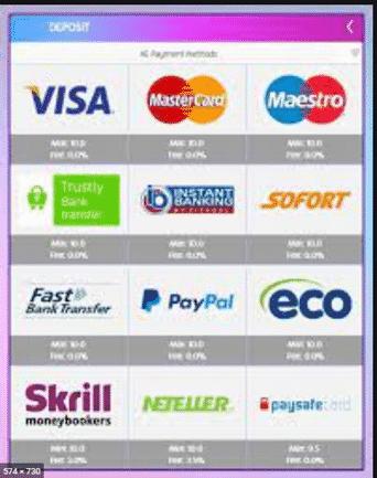 Betsson payment methods