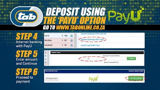 Tab deposit payu option